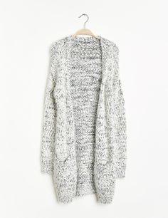 Long jeté effet mohair gris chiné - Jennyfer e-shop Sweater Weather,  Fashion Accessories c8e874ffbb49