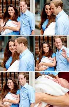HRH Prince William, Princess Kate and HRH the Prince of Cambridge.