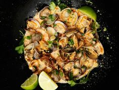 Red Curry, Coconut, and Ginger Infused Steamed Clams   15 Super Bowl Recipes Your New Jersey Grandma Would Be Proud Of   Bustle