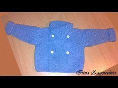 Dzianina Sweter dla noworodka. H wiążą płaszcza 3. Jeśli chodzi o dziecko - YouTube