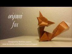 Origami Fox Tutorial (designed by Mathieu Gueros) - YouTube
