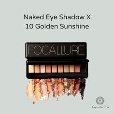 Made from high-quality and cruelty-free ingredients, you can expect a smooth and even application whether you are applying an individual color or blending multiple shades. #eyeshadow #shades #beautiful 👌  Shop now on aqualuzza.com