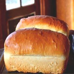 Amish White Bread: Fluffy Old Fashioned Loaf Easy Amish White bread is a sweet, velvety-textured, homemade bread that's perfect for sandwiches. - These gorgeous loaves of Amish White Bread are puffy and soft. Yeast Bread Recipes, Amish Recipes, Cooking Recipes, Grandma's Bread Recipe, Cornbread Recipes, Jiffy Cornbread, Easy Recipes, No Yeast Bread, Carrot Recipes