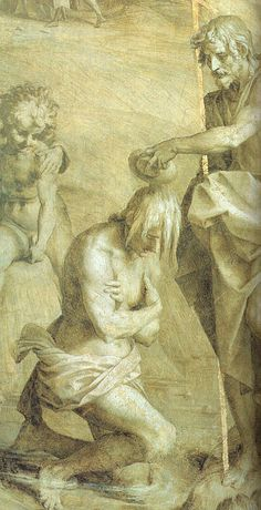 The Baptism of Christ, Andrea del Sarto, 1524. CGFA.