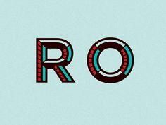 Logo Type R O by Nick Jones