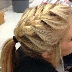 Cute updo type hair style for sports and stuff.