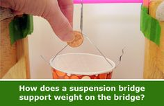 """""""Bridge Science: Weekly Science Project Idea and Home Science Activity Spotlight"""": how much weight can a suspension bridge bear compared to a beam bridge? Use everyday materials to experiment and explore in this hands-on #engineering project or activity. [Source: Science Buddies, http://www.sciencebuddies.org/blog/2014/02/bridge-science-weekly-science-project-idea-and-home-science-activity-spotlight.php?from=Pinterest] #STEM #scienceproject"""