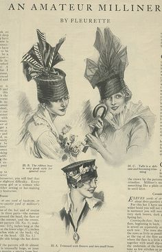 Delineator 1916 hat fashion by genibee, via Flickr