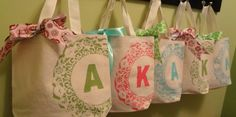 How to Make a Monogrammed Canvas Favor Bag!  or for kid travel bag:)