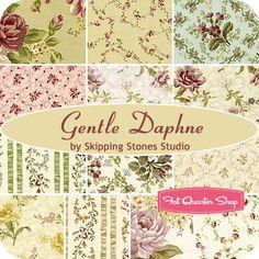 Gentle Daphne Fat Quarter Bundle Skipping Stones Studio for Clothworks Fabrics