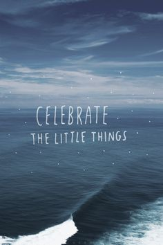 ~ celebrate the little things ~