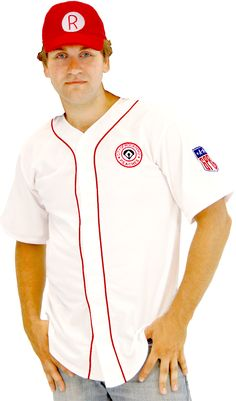 A League of Their Own Rockford Peaches AAGPBL Baseball Mens Costume Jersey  #tvstoreonlinewishlist