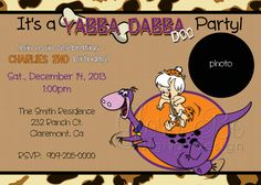 Bam Bam Birthday Party Invite Ready to by PixelPerfectGraphics, $12.00
