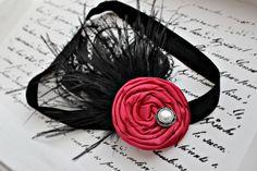 red rosette headband