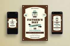 Fathers Day + Social Media by VectorVactory on Best Instagram Stories, Instagram Posts, Business Brochure, Business Cards, Find Fonts, Instagram Story Template, Flyer Template, Flyer Design, 4th Of July