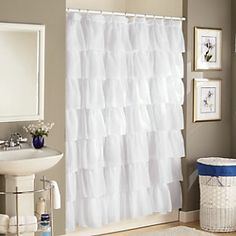 """Gypsy Shower Curtain = $29.99 - Affordable base to use for the dip-dye """"Anthropologie Hack"""" pinned here"""
