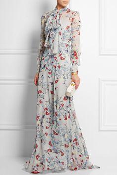 Erdem | Nellie floral-print silk-chiffon gown | NET-A-PORTER.COM