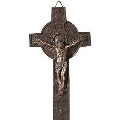 DicksonsInc Circle Crucifix Cross Wall Decor
