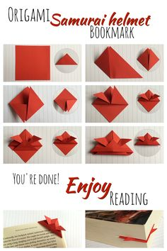 Origami samurai helmet bookmark tutorial!