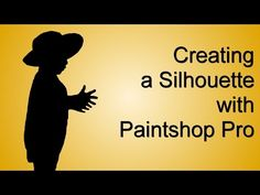 Create a silhouette from any photo using #Paintshop Pro, for your #scrapbooking or graphic projects.