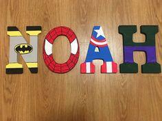 Superhero letters avengers marvel D.C. Comics batman Spider-Man hulk captain America bedroom wooden letters decor bedroom