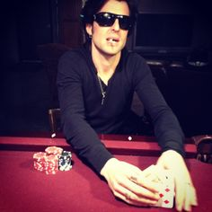 Cale's shuffling them up, who wants to play some Hold Em?