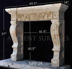 This is page 2 or beautiful Hand Carved Stone Surround Mantels made out of French Limestone by Ancient Surfaces Part 2