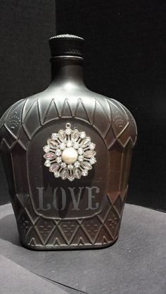 Decorative Bottles :     painted crown bottle    -Read More –