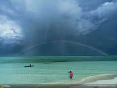 Philippines. ocean. beach. rainbow