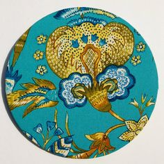 Cork Board in Peacock & Floral by slateandsage on Etsy