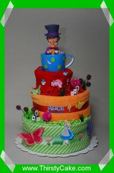 Alice in Wonderland Diaper Cake TOOO CUTE