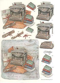 Machine a écrire 3d