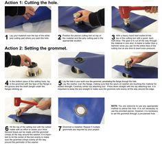 12 Grommet Hand Setting Tool Kit Large Grommets For Curtains Online