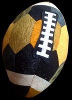 Football .... downloadable PDF pattern and instructions.  Make it in your team colors!