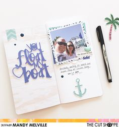 You Float my Boat | Traveler's Notebook Spread | The Cut Shoppe Design Team Project