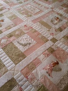 Helens Quilt from Green Fairy Quilts: this would be a great pattern for the fairy quilt (quilt of fairies) ...I plan to make someday