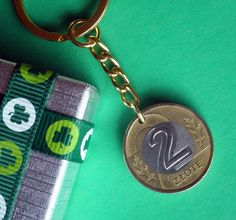 Birthday 1995 Poland coin Keyring, 2 Zlotych Polish Keychain, Goldtone and Nickle coin on a Goldtone Keyfob, Also 25th Birthday Gifts, Key Fobs, Poland, Irish, Coins, Personalized Items, Etsy, Irish Language, Rooms