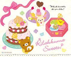 Rilakkuma Sweet Desserts Wallpaper #Rilakkuma #cute #wallpaper