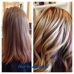 Multicolor highlights   lowlights brown and blonde  Chunky multi dimensional Instagram @hairbyriahood