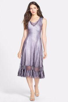 83d8816bb79 KOMAROV Embellished Charmeuse Dress Size S. elegant A Line with lace trim