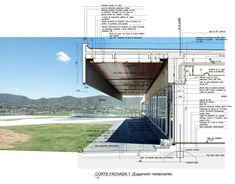 Image 1 of 11 from gallery of 10 Exemplary Ways to Represent Architectonic Construction Details. Image via © Dutari Viale Arquitectos Detail Architecture, Architecture Graphics, Architecture Board, Architecture Student, Architecture Drawings, Landscape Architecture, Interior Architecture, Victorian Architecture, Parking Plan
