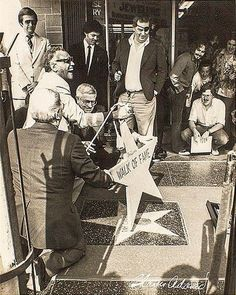 Ray Charles, claiming his star in the Hollywood Walk of Fame, Dec. 16, 1981. Photo by Charles Adams.