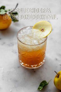 Bourbon Apple Cider, Apple Cider Cocktail, Bourbon Cocktails, Fall Cocktails, Cocktail Recipes, Craft Cocktails, Ginger Drink, Ginger Beer, Best Mashed Potatoes