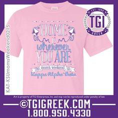 TGI Greek - Kappa Alpha Theta - Mom's Day - Greek T-shirt #tgigreek #kappaalphatheta #momsday