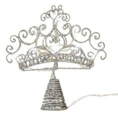B Battery Operated LED Glitter Crown Tree Topper, 5052931103720  - Have to get one!!