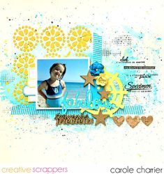 "Layout by Carole Charrier uses ""Endearing Eyelet"" and ""This & That"" cut files from The Cut Shoppe."