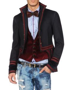 Menswear ~Waist coat and updated military jacket. -d