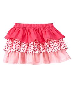 Look what I found on #zulily! Pink Tiered Skirt - Infant & Toddler #zulilyfinds