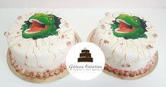Gâteaux d'anniversaire dinosaure !  Commandez dès aujourd'hui votre gâteausur notre site internet et faites vous livrer chez vous sur toute la France 🇫🇷 www.gateaucreation.fr  Gâteau création  9, place des Fauvelles  92400 Courbevoie  Tel: 01.43.34.15.40