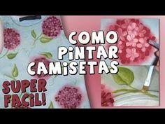 Pintura en Tela Hortensias *Paint on Fabric* Camisetas Personalizadas Pintar Tela DIY Pintura Facil - YouTube